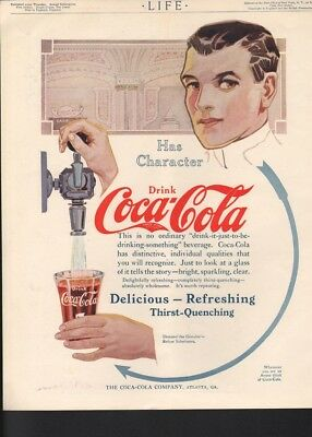 1913 Coca Cola Drink Pop Soda Atlanta Refresh Draft Tap Thirst Quench Glass16900