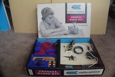 Remco Radio Science Vintage Crystal Kit Toy 106 Untested Diodes Headphones 1962