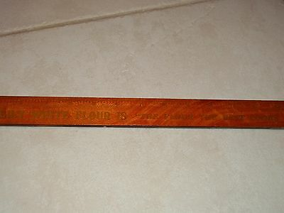 """15"""" Rule LILY WHITE FLOUR Valley City Milling Old Sign GRAND RAPIDS MICH Brass"""