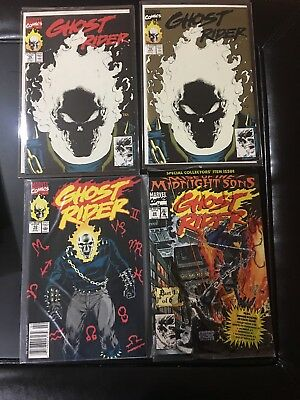 Lot of Ghost Rider (1990 2nd Series) #15 black cover, gold cover and #10 and #28