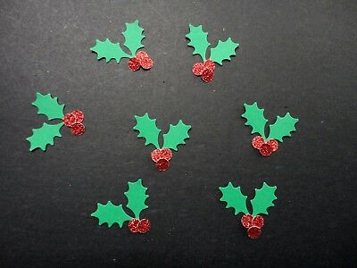 Scrapbooking Paper Punchies- 50 Christmas Holly Punchies
