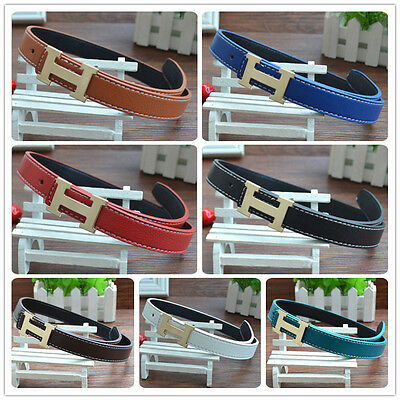 New Fashion Casual Children Faux Leather Adjustable Belts For Boys Girls