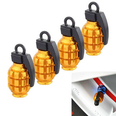 4Pcs Aluminum Tire Wheel Rims Stem Air Valve Caps Truck Car Bike Tyre Dust Cover
