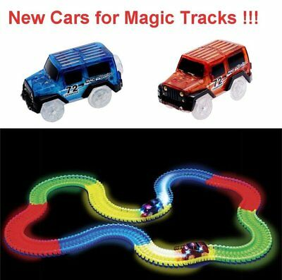 LED Light Up Cars For Magic Tracks Electronics Car Toys With Flashing Lights GT