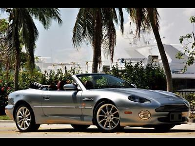 """2000 Aston Martin DB7 Vantage Volante Rare 6 Speed Manual Transmission ILVER 42K MILES JUST SERVICED CLEAN CARFAX RED LEATHER CONVERTIBLE 18"""" ALLOYS"""