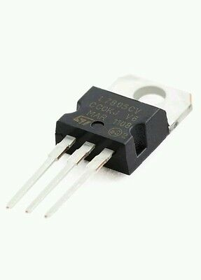 5-pcs LM7805 L7805CV 7805 5V 1.5A Voltage Regulator TO-220 IC, great for Arduino