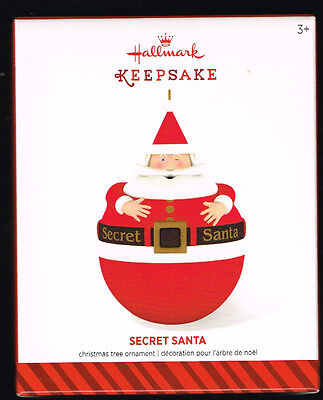 2014 Hallmark Ornament - Secret Santa, With Secret Compartment