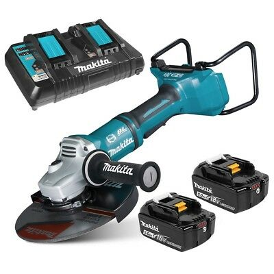 "Makita 36V=18V x 2 Li-Ion Cordless Brushless 230mm (9"") Angle Grinder AUS MODEL"