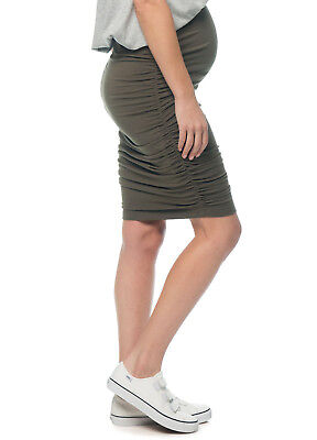 NEW - Bae - Count Your Blessings Skirt in Khaki - Maternity Skirt