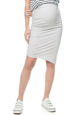 NEW - Bae - Stay Up Late Skirt in Light Grey - Maternity Skirt
