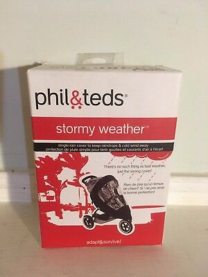 phil&teds Stormy Weather Cover for Vibe Strollers, Single