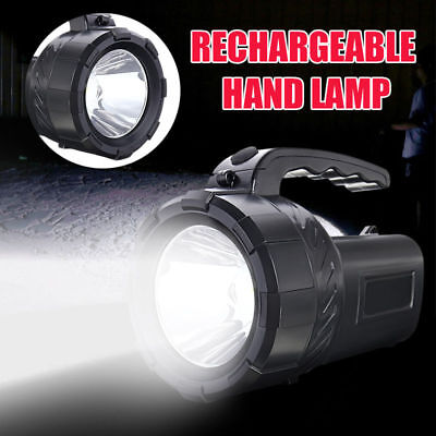 10W Rechargeable Torch LED Candle Power Work Spot Lights Camping Hand Flash Lamp
