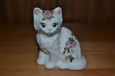 Mosser HP Signed Milk Satin w/Roses Kitten