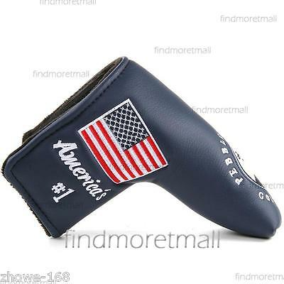 New Blue Pebble Blade Putter Cover Headcover for Taylormade Cleveland Adams Ping