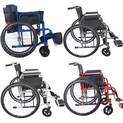 Folding Mobility All Aid Handicapped Lightweight Wheelchair Self-Propelled New