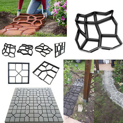 Driveway Paving Pavement Mold Concrete Path Garden Walk Maker Mould Funny DIY