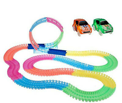 Twister Tracks Neon Glow in the Dark 120 Piece of Flexible Assembly Track Series
