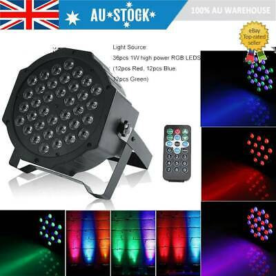 36 LED RGB Stage Light DMX512 Par CAN DJ Disco Uplighter Lighting Effect AU Post