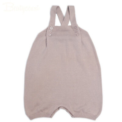 Cotton Knitted Baby Rompers Solid Soft Jumpsuit Romper Baby Overall Baby Clothes
