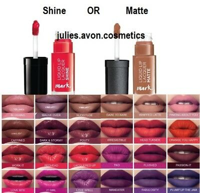 Avon mark.Liquid Lip Lacquer Moisturising Lasts for hours Choose Your Shade New