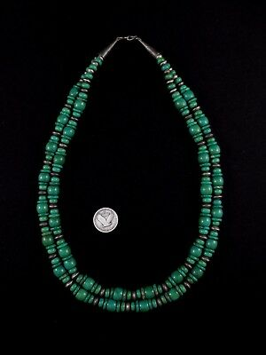Navajo Necklace - Sterling Silver and Turquoise