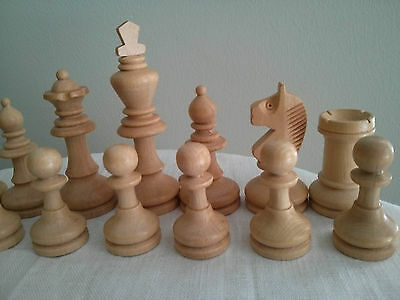 Vintage Staunton wood chess set in original box, made in West Germany