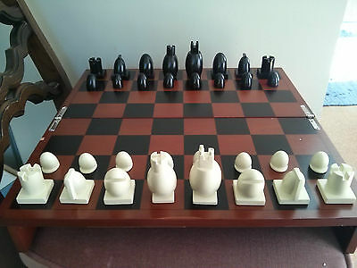 """Michael Graves Design Chess Set with 16"""" board"""