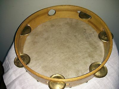 "Vintage 9.5"" tambourine, Ridi 24, made in Germany"