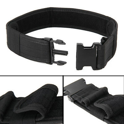 Fashion Quick Release Military Trouser BELT Army Tactical Canvas Webbing Black