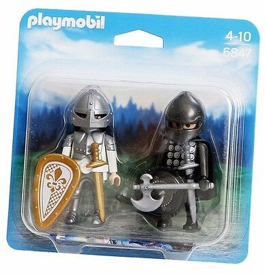 Playmobil 6847 Knights Rivalry Knight soldier armour weapon Duo Pack NEW Blister