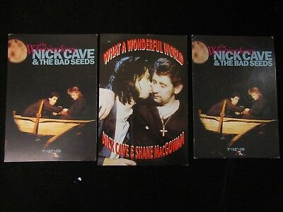 Nick Cave 3 Postcards Music Trade Mute New Releases Postmarked 1990-2