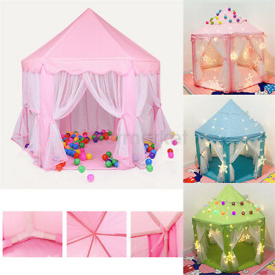 Prince Princess Castle Play House Children Fun Netting Outdoor Kids Play Tent