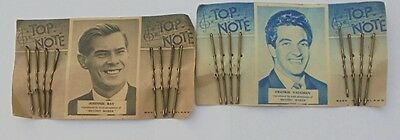 Vintage 1950's TOP NOTE HairGrips featuring Frankie Vaughn Johnnie Ray