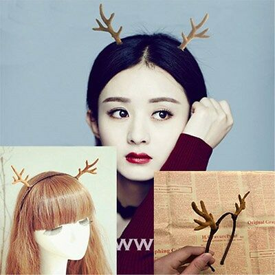 Mori Style Cute Little Deer ELF cosplay Antlers headband Headdress bridal X'mas