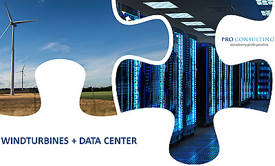 Wind turbines with Data Center