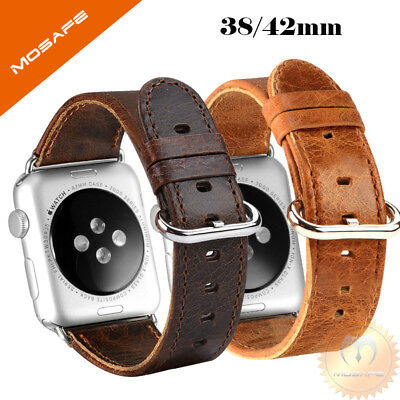 Genuine Leather Strap Band for iWatch Apple Watch 3 2 1 38mm/40mm 42mm/44mm
