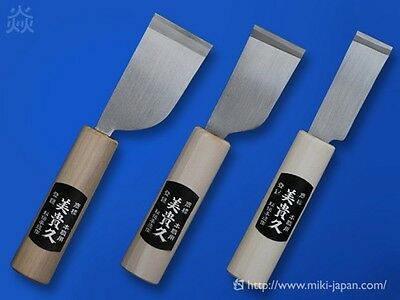 Japanese Leather Cutting Knife Set of 3 made of Forging Steel made by Ikeuchi.