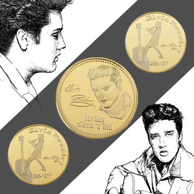 WR Elvis Presley - The King of Rock n Roll Gold Coin -Singer Legend Medallion US
