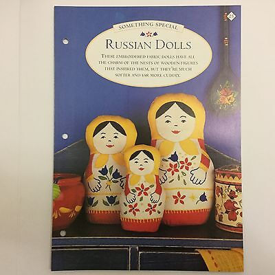 Needlework pattern: Russian dolls embroidery design and instructions