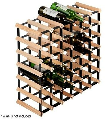 Wine Rack Organiser 42 Bottle Bar Stand Expensive Wine Collection Wooden Holder