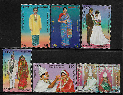 Bangladesh 503-8 Mint Never Hinged Set - Traditional Costumes