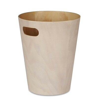 Umbra Woodrow Waste Bin White Diameter 22.9cm x Height 27.9cm