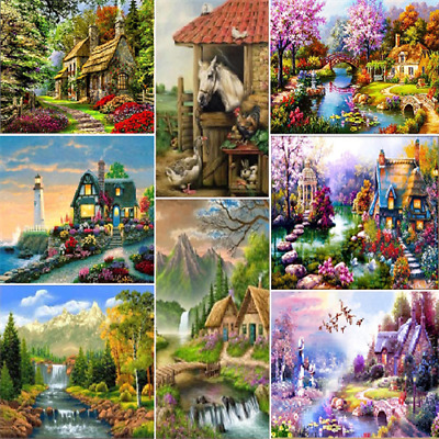 5D Scenery Diamond Rhinestone Pasted Embroidery Painting Cross Stitch Home Decor