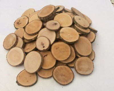 Natural Wood Logs Slices Discs DIY Crafts Wedding Table Pyrography Early Years