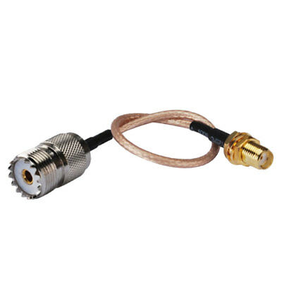 UHF SO239 Female to SMA Female Jack Adapter Adaptor Pigtail Jumper Cable