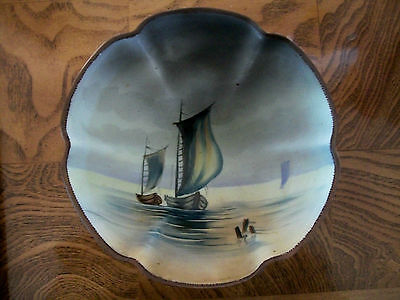 Antique Porcelain Three Footed Bowl  Nippon Mark 47