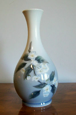 1963 Royal Copenhagen Denmark Vase With Apple Blossoms