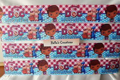 """Doc McStuffin 7/8"""" grosgrain ribbon sold by 2 M - Craft - Hair - Cake"""