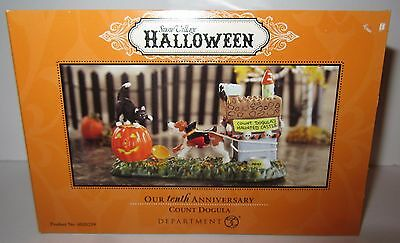 Count Dogula Department 56 10th Anniversary Halloween NEW IN BOX Retired