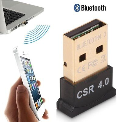 Bluetooth 4.0 USB Dongle Adaptateur CSR 4.0 Pour Windows 10 8 7 Xp Vista PC